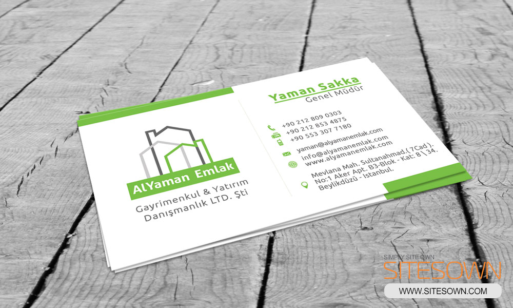 AlYaman Emlak Business Card