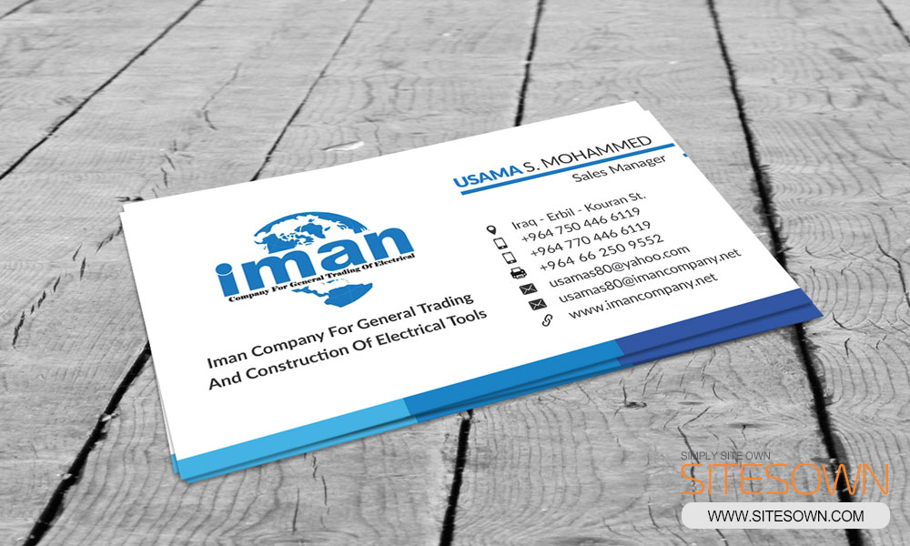 Iman Company Business Card