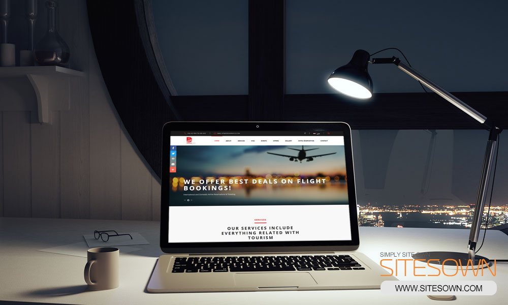 Dream Way Aviation Co - Website - Laptop