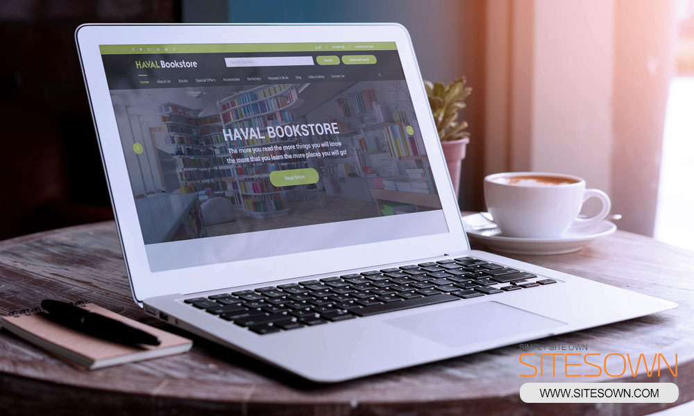 Haval Bookstore -Laptop- Website