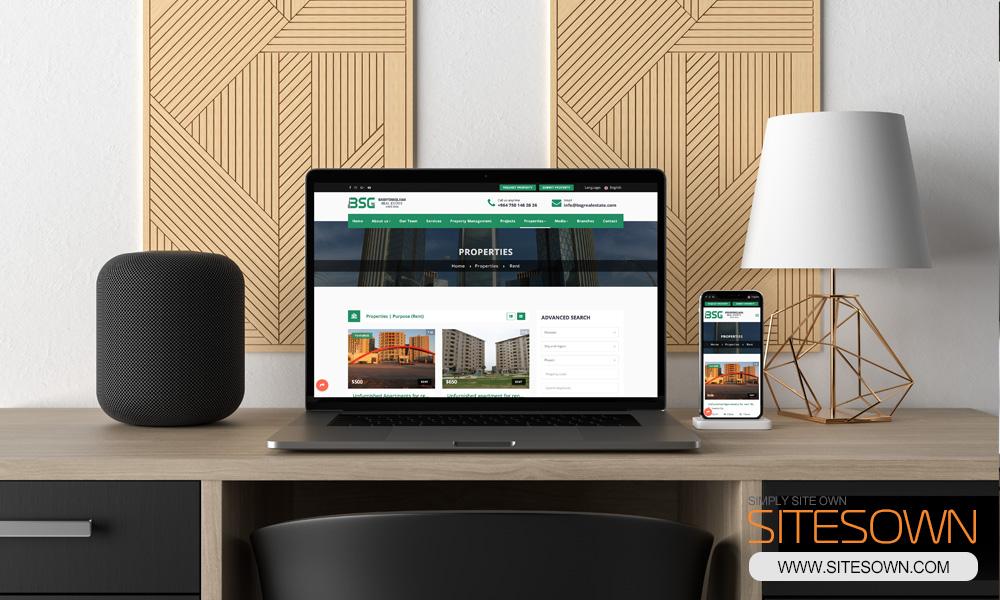 Baghy Shaqlawa Real Estate Website - Laptop